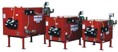 The full group of Clean Burn Waste Oil Boilers