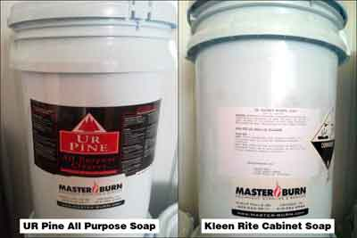 Master Burn Cleaning Chemicals and Soaps